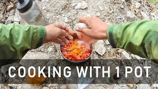 CAMPING FOOD - COOKING WITH 1 POT