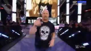 Stone Cold Steve Austin RETURNS Entrance to WWE 2015 HQ