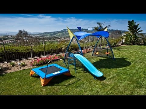 Ironkids Premier 300 Metal Swing Set Trampoline With Spinner And Uv