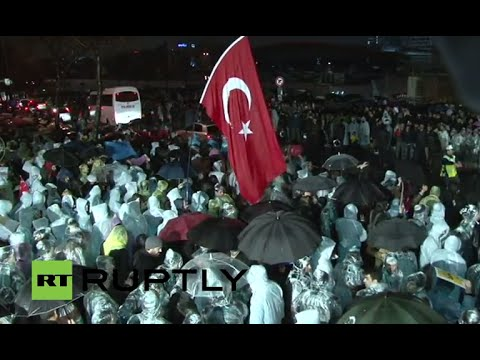 LIVE: Protest outside Zaman Media offices in Istanbul