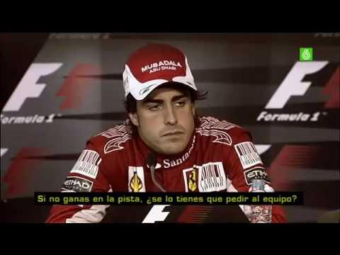 Rueda de Prensa Vergonzosa - Alonso,  GP Alemania 2010 F1 (Prensa Inglesa)