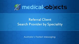 Referral Client: Search for Provider by Speciality