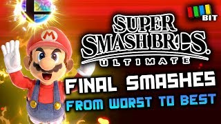 Ranking Every Final Smash from Super Smash Bros Ultimate [TetraBitGaming] thumbnail
