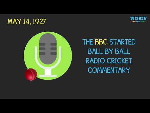 The origin of ball-by-ball radio commentary in cricket
