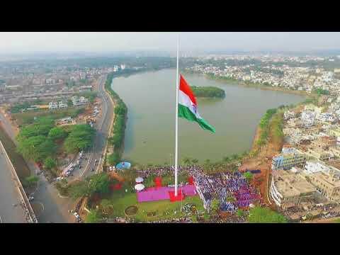 Tallest National Flag flutters at Belagavi Drone Footage