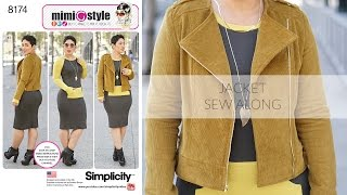 How to Sew a Moto Jacket with Mimi G Simplicity Pattern 8174