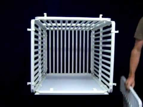 How To Assemble Indoor Dog Crate From Rover Company - YouTube