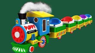 Welpen Der Zug Cartoon | Spielzeug-Fabrik.