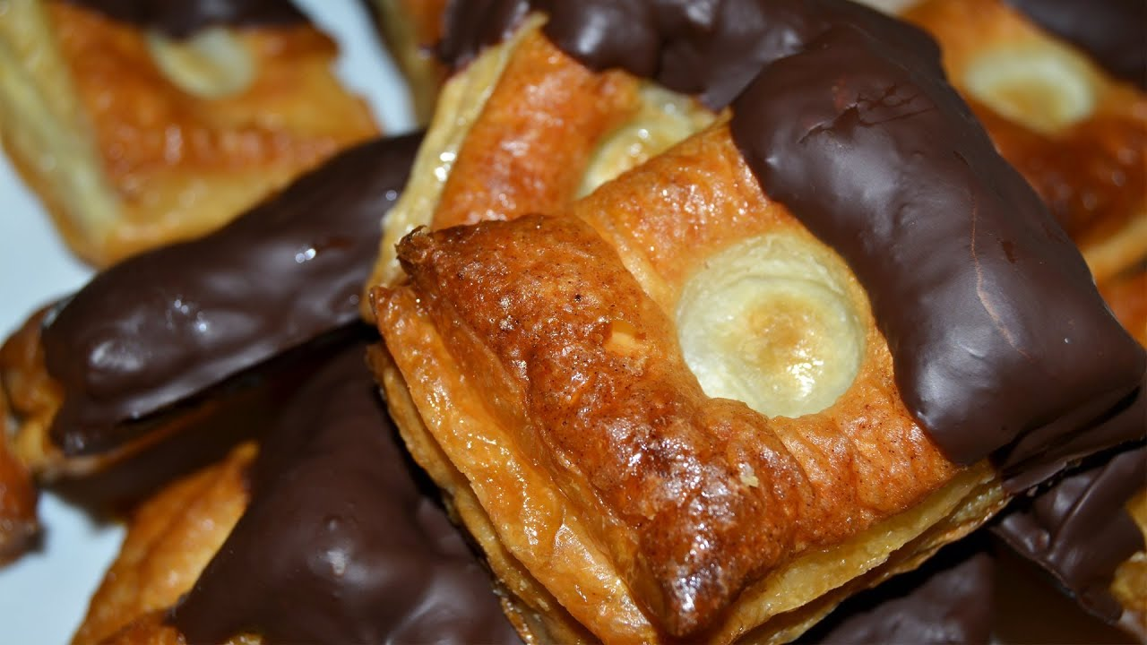 puff pastries with chocolate honey easy puff pastry dessert recipe