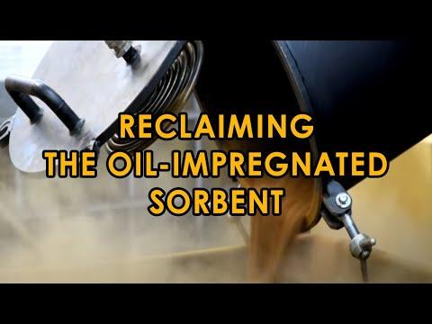 CMM-4RP: Reactivation of oil purification sorbent. Adsorbent regeneration