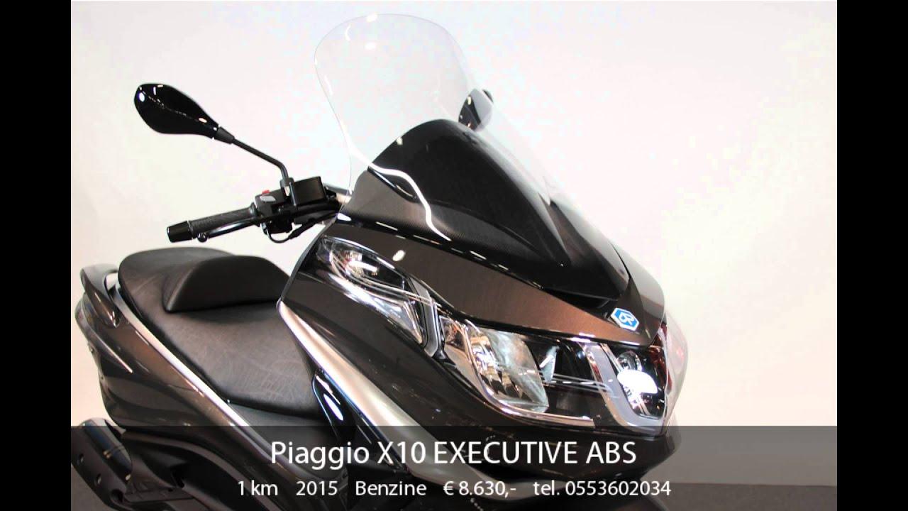 piaggio x10 executive abs - youtube