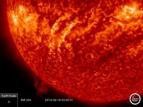 Erupcion de filamento y Tsunami solar SDO AIA 304 193