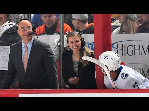Kendall Coyne Schofield holds court on NBCSN broadcast