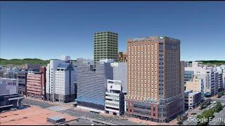 旭川 再開発 妄想MAP「旭川駅前再開発」の風景を妄想する。
