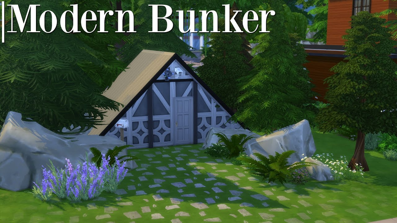 the sims 4 speed build modern bunker youtube