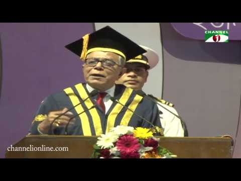 Honorable President of Bangladesh, Md  Abdul Hamid, Funny Speech, DU Convocation