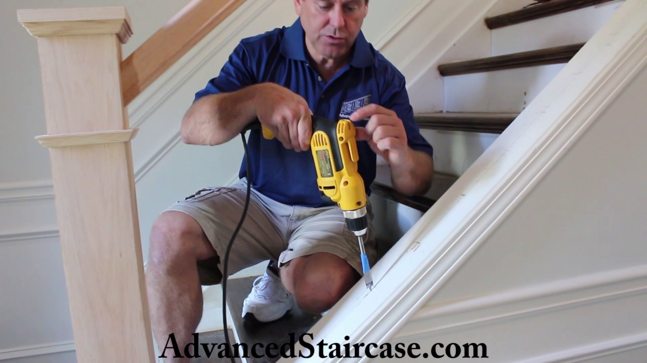 how to install iron balusters on a knee wall