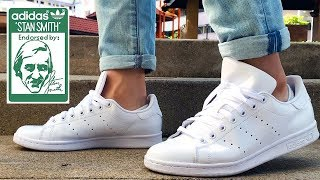 super popular d6da1 d9cf5 Adidas Stan Smith All White Review   On Feet