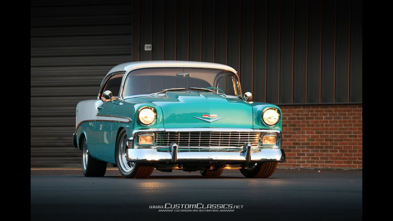 1956 Chevrolet Bel Air For Sale - Custom Classics - YouTube