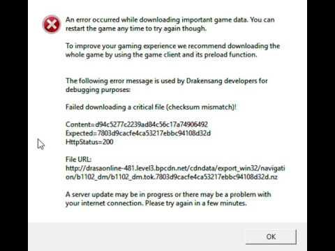 Login problem from client | drakensang online en.