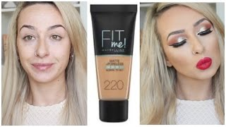First Impressions Maybelline FIT ME! Matte and Poreless Foundation | DramaticMAC
