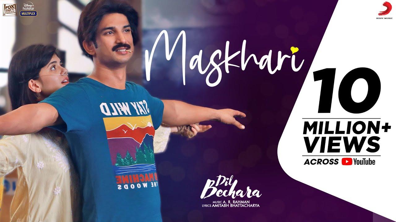 Dil Bechara - Maskhari | Official Video | Sushant, Sanjana | A.R. Rahman| Sunidhi, Hriday |Amitabh B
