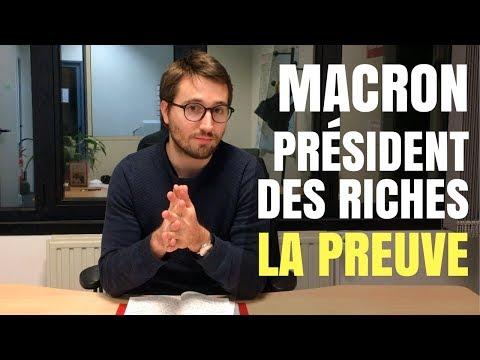 MACRON, PRÉSIDENT DES RICHES : LA PREUVE - Le Bon Sens