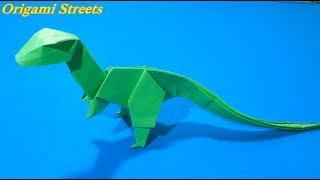 Как сделать динозавра из бумаги. Оригами Динозавр из бумаги.
