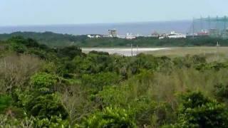 沖縄宜野湾佐喜眞美術館から見る米海兵隊普天間基地2012年1月