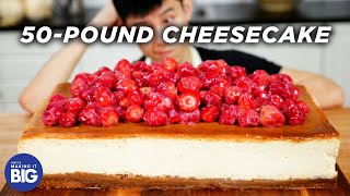 I Made A Giant 50-Pound Cheesecake • Tasty