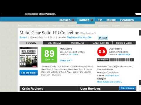 На Playstation 3 нет игр - Доказательства на Metacritic