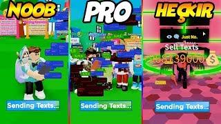 NOOB PRO HACKER, 1 OYUN 3 HESAP / Texting Simulator / Roblox Türkçe