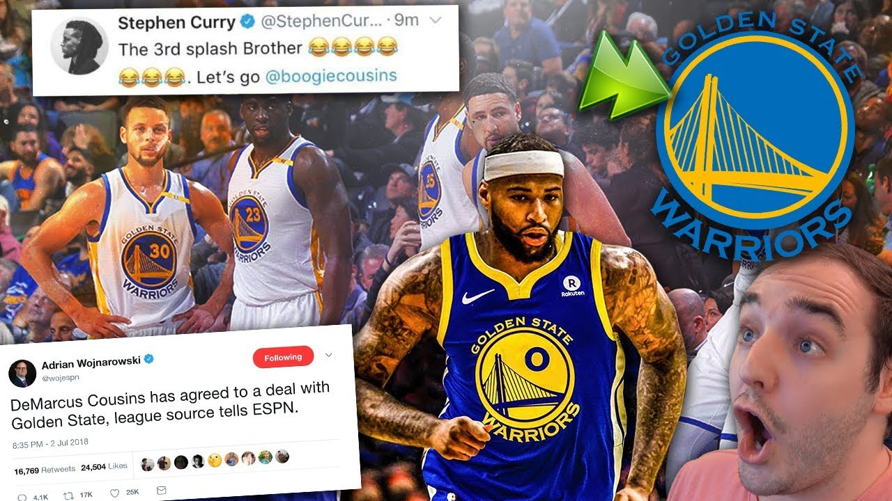 DEMARCUS COUSINS SIGNS WITH THE WARRIORS! !  BEST TEAM IN NBA HISTORY  MY  REACTION! WOW! a3a363585