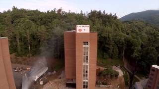 Winkler Hall Implosion by DH Griffin Companies - Appalachian State University- 2014-