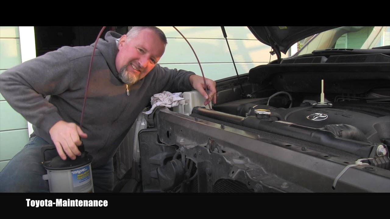 Toyota Transmission Fluid >> Toyota Tundra Power Steering Fluid Flush - YouTube