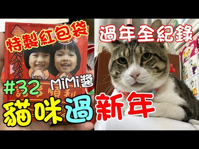 『貓咪過新年』MiMi醬第一次在家過年全紀錄 Cat Story#32