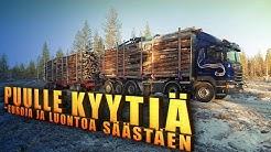 Pikkujätti 84 tonnia. Small giant truck of 84 tonnes.