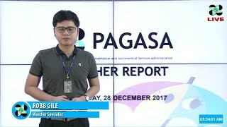 Public Weather Forecast Issued at 4:00 AM December 28, 2017