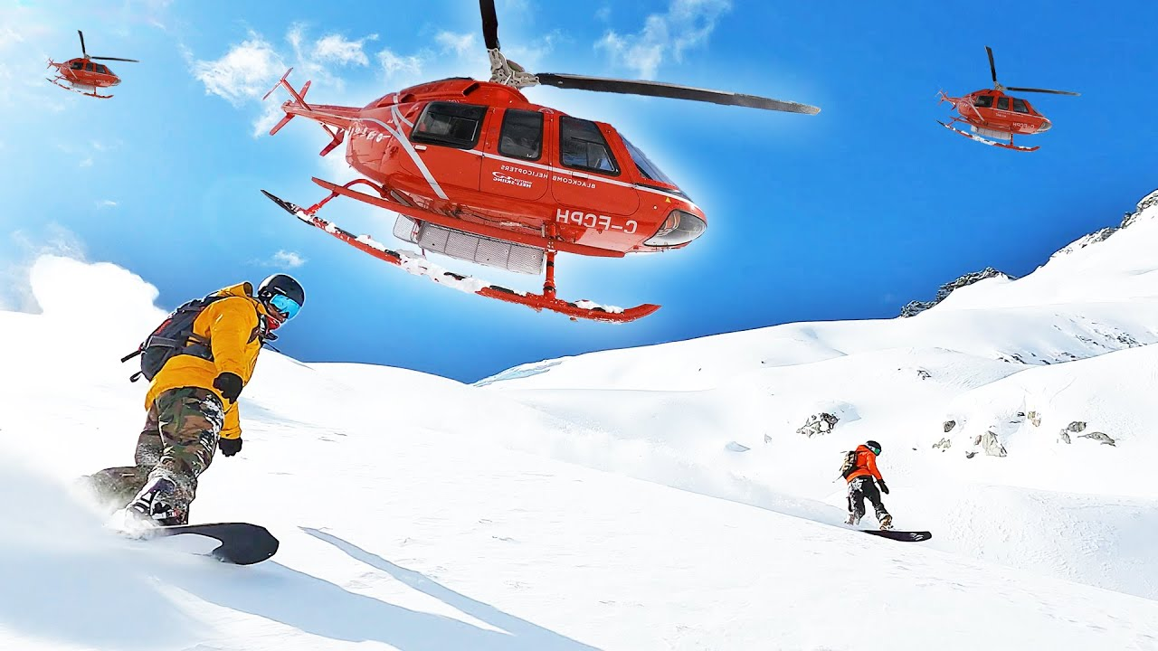 Legendary Heli Snowboarding Day In Whistler