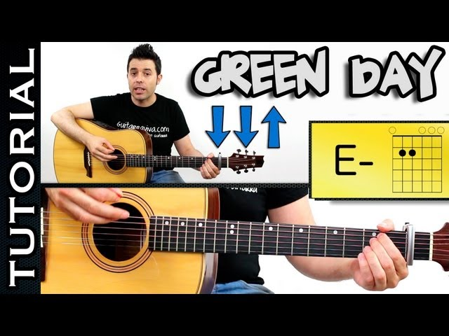 Boulevard of Broken Dreams GREEN DAY GUITARRA TUTORIAL Acordes GREEN DAY Como tocar Videos De Viajes