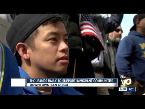 Thousands Rally to Support Immigrant Communities