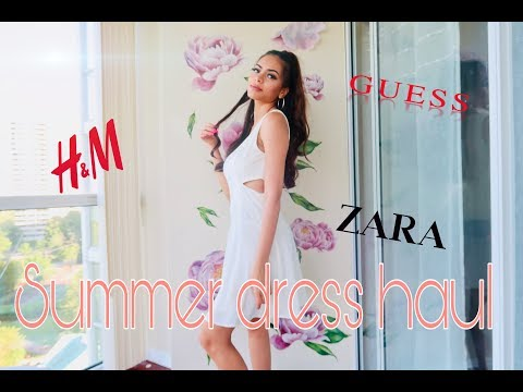 SUMMER DRESS HAUL | ZARA, GUESS, ARITZIA, H&M, BANANA REPUBLIC