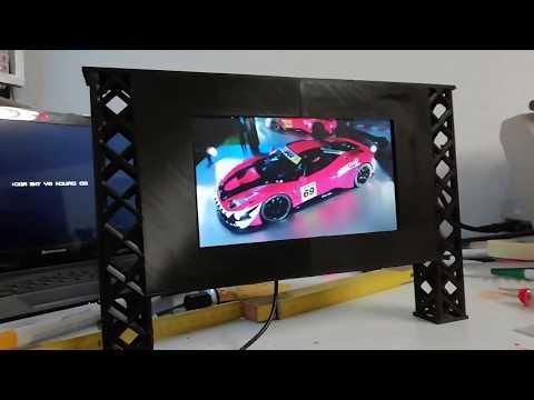 Slotcar Werbetafel digital Carrera Scalextric Scaleauto