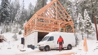 the TRUTH about filming for Pure Living For Life timberframe build