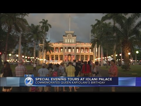 Long lines form to see Iolani Palace for Queen Kapiolani