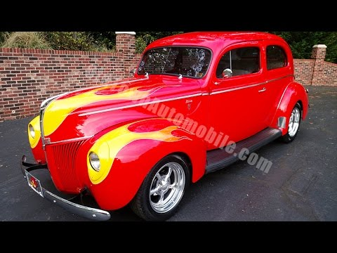 1940 Ford Sedan Street Rod Torch Red for sale Old Town Automobile in Maryland