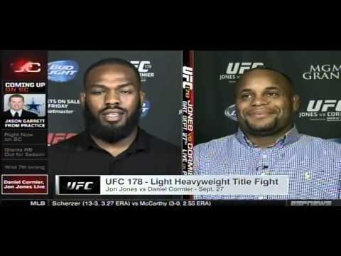 Jon Jones & Daniel Cormier react to media brawl LIVE on Sportscenter 8/4/14