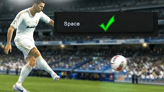 How to enable Space key (Spacebar) in PES