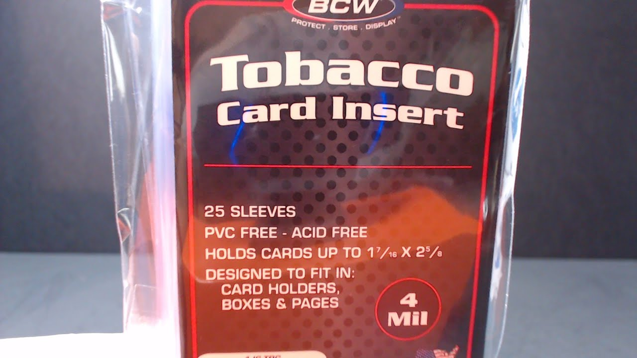Bcw Supplies New Product Tobacco Card Insert Sleeves