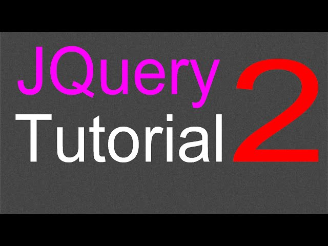 JQuery Tutorial for Beginners - 2 - Setting up the library
